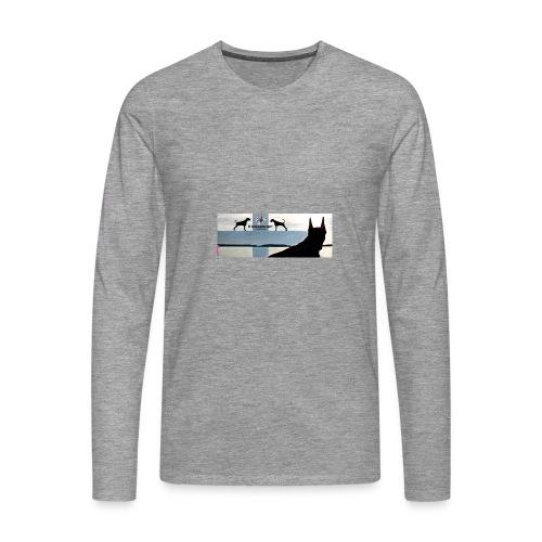 FBtausta - Miesten premium pitkähihainen t-paita