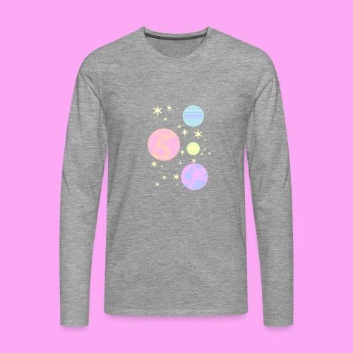 Pastel galaxy - Miesten premium pitkähihainen t-paita