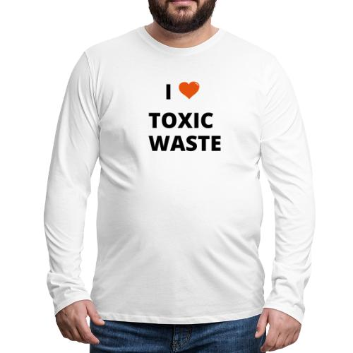 real genius i heart toxic waste - Men's Premium Longsleeve Shirt