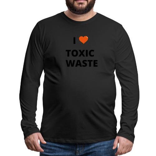 real genius i heart toxic waste - Men's Premium Longsleeve Shirt