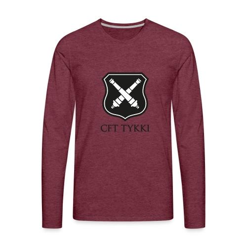 Tykki logo musta - Miesten premium pitkähihainen t-paita