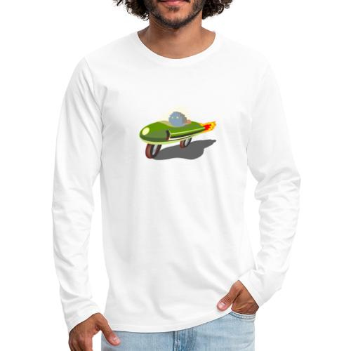 Futuristic Retro Bike - Men's Premium Longsleeve Shirt