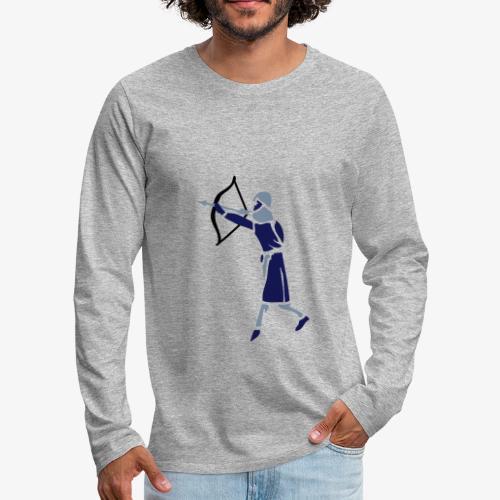 Archer Medieval Icon patjila design - Men's Premium Longsleeve Shirt