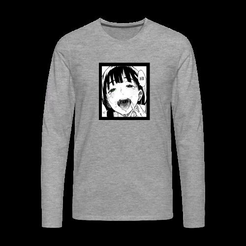 midori kanji - ahegao - Men's Premium Longsleeve Shirt