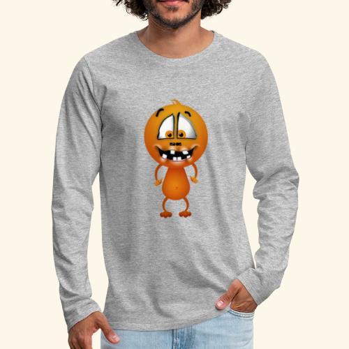 Ant Monster with big eyes and gappy teeth - Men's Premium Longsleeve Shirt