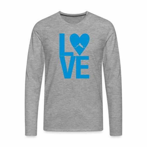 Mountain Love - Männer Premium Langarmshirt