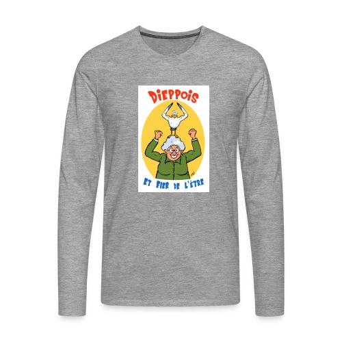 t shirt polete fier d'etre dieppois - T-shirt manches longues Premium Homme