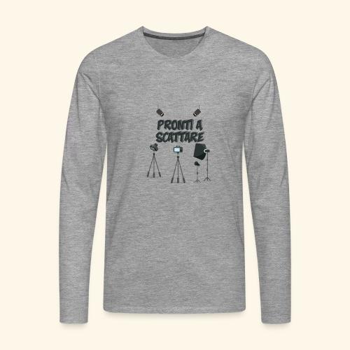 pronti a scattare - Maglietta Premium a manica lunga da uomo
