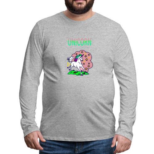 Einhorn unicorn - Männer Premium Langarmshirt