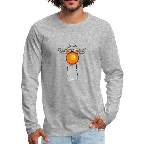 Chewing Llama - Männer Premium Langarmshirt