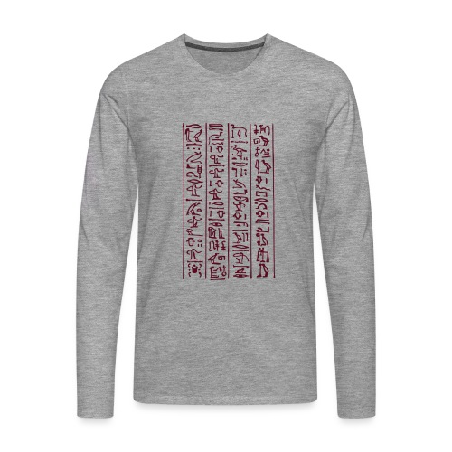 Hieroglyphen - Männer Premium Langarmshirt