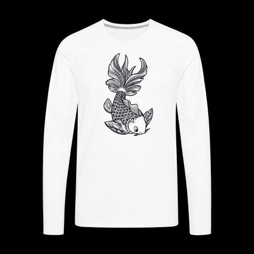 Pesce Tattoo Flash - Maglietta Premium a manica lunga da uomo