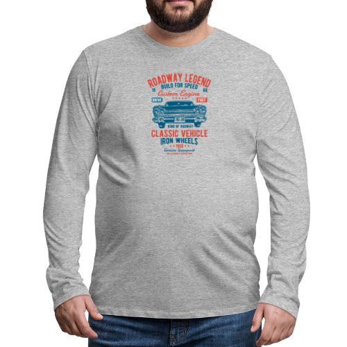 Roadway Legend - Mannen Premium shirt met lange mouwen