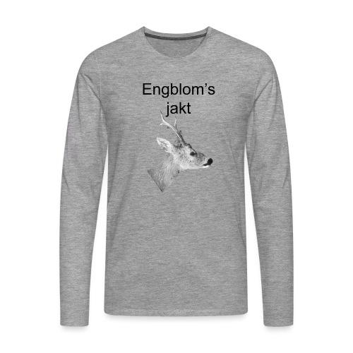 Officiell logo by Engbloms jakt - Långärmad premium-T-shirt herr