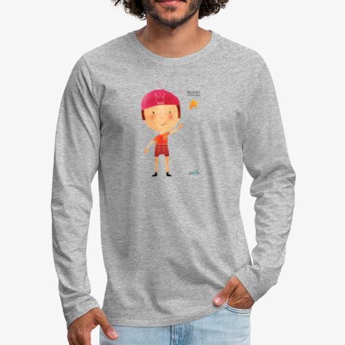 Maglietta mascotte Remo di Magical Dots Jr - Maglietta Premium a manica lunga da uomo