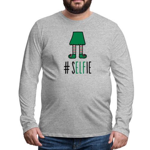Christmas: (S)Elfie - Männer Premium Langarmshirt