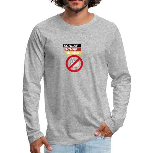Schlaf-Schaf-Alarm - Männer Premium Langarmshirt