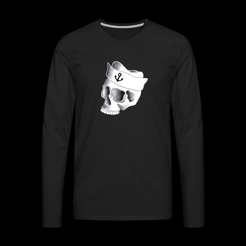 Teschio Marinaio - Maglietta Premium a manica lunga da uomo