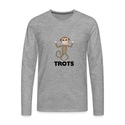 apetrots aapje wat trots is - Mannen Premium shirt met lange mouwen