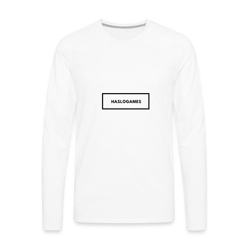 HasloGames White/Black edition! - Mannen Premium shirt met lange mouwen