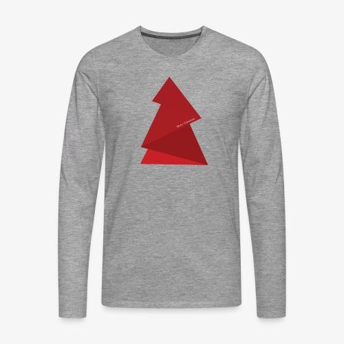 red triangles fir - Men's Premium Longsleeve Shirt