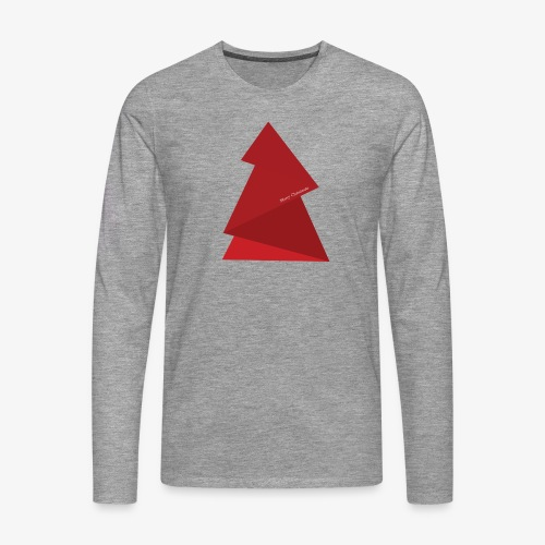 sapin triangles rouges - T-shirt manches longues Premium Homme