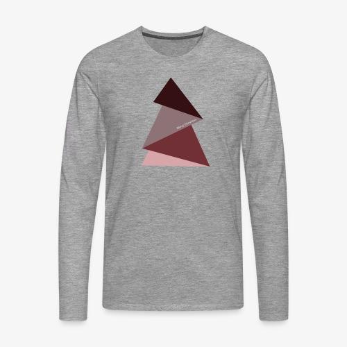 fir triangles 2 - Men's Premium Longsleeve Shirt