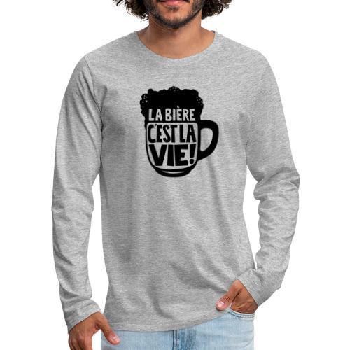 bière, la bière c'est la vie - T-shirt manches longues Premium Homme
