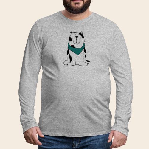 Gros chien mignon - T-shirt manches longues Premium Homme