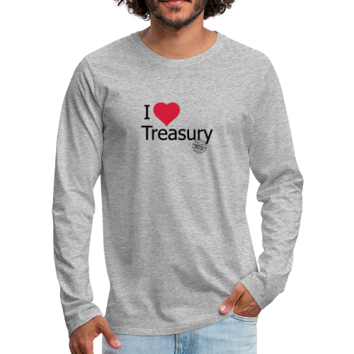 I LOVE TREASURY - Men's Premium Longsleeve Shirt