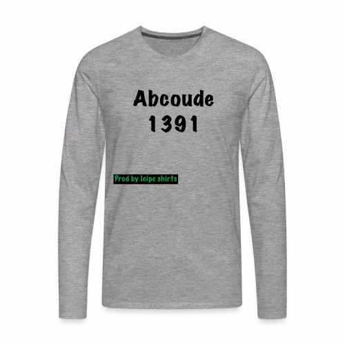 Abcoude post code merk - Mannen Premium shirt met lange mouwen