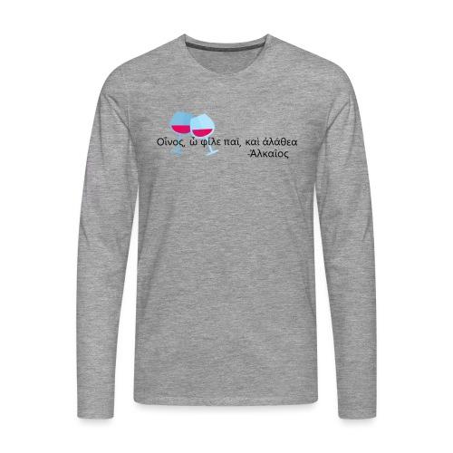 Alceo - Maglietta Premium a manica lunga da uomo