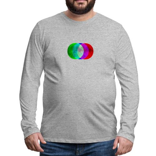 RGB moon - Koszulka męska Premium z długim rękawem