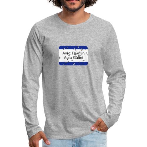 mg agia galini - Männer Premium Langarmshirt