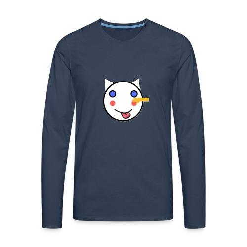 Alf Cat With Friend | Alf Da Cat - Men's Premium Longsleeve Shirt