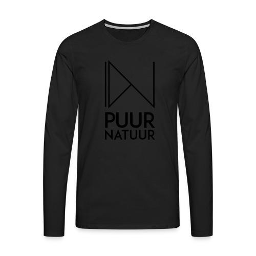 PUUR NATUUR FASHION BRAND - Mannen Premium shirt met lange mouwen