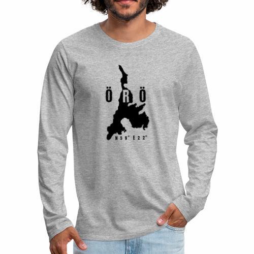 ÖRÖ ISLAND, FINLAND T-SHIRTS, HOODIES + 150 GIFTS - Miesten premium pitkähihainen t-paita