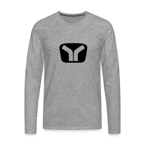 Yugo Logo Black-Transparent Design - Men's Premium Longsleeve Shirt