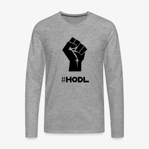 HODL-fist-b - Men's Premium Longsleeve Shirt