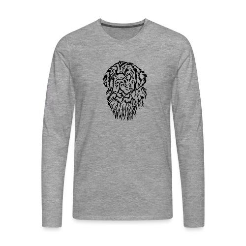 Neufundländer Kopf - Männer Premium Langarmshirt
