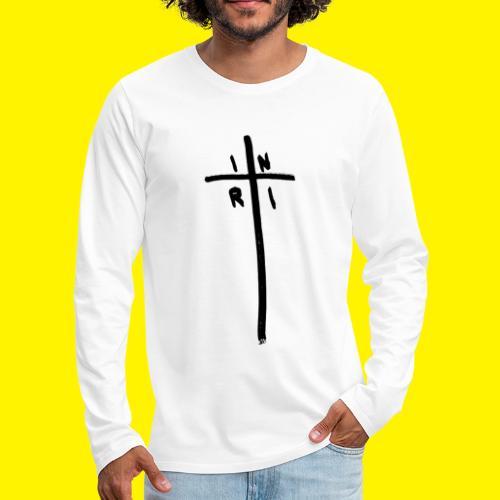 Cross - INRI (Jesus of Nazareth King of Jews) - Men's Premium Longsleeve Shirt