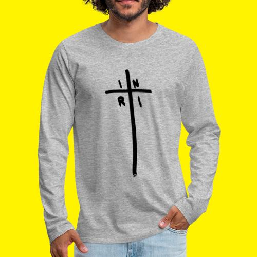 Cross - INRI (Jesus of Nazareth King of Jews) - Men's Premium Longsleeve Shirt