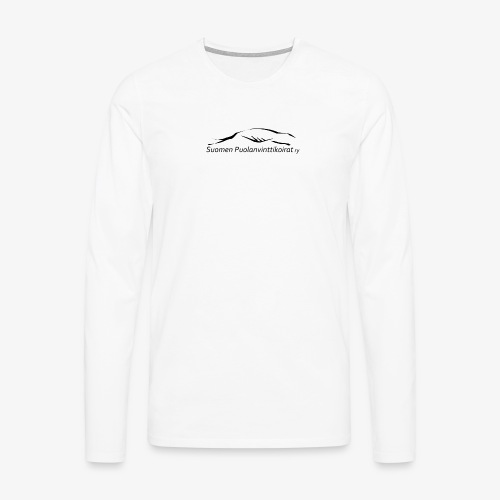 SUP logo musta - Miesten premium pitkähihainen t-paita