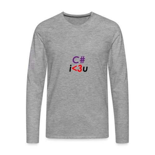 C# is love - Maglietta Premium a manica lunga da uomo