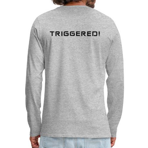 Black Negant logo + TRIGGERED! - Herre premium T-shirt med lange ærmer