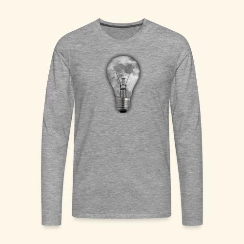 moon bulb - Camiseta de manga larga premium hombre