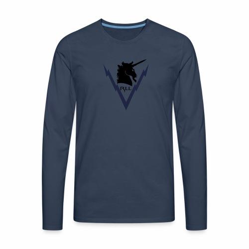 Brand RLL Color - Maglietta Premium a manica lunga da uomo