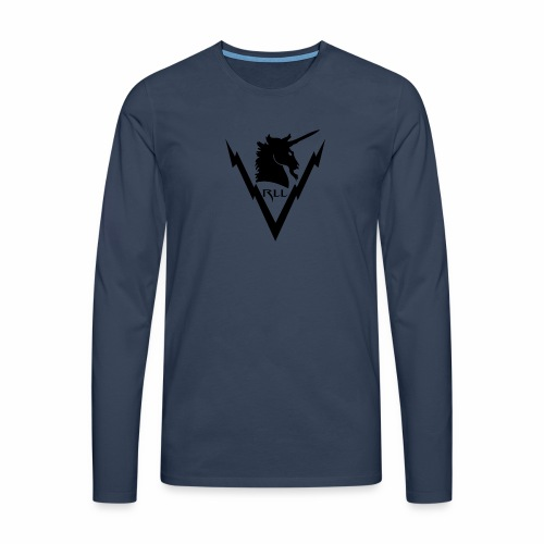 Brand RLL Black - Maglietta Premium a manica lunga da uomo