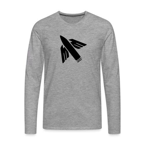 Ilmatorjuntamies - Miesten premium pitkähihainen t-paita