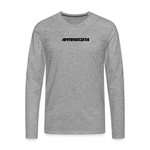 Antifascista svart - Långärmad premium-T-shirt herr